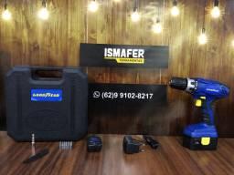 Furadeira Parafusadeira a Bateria Com Acessórios 1 Ano de Garantia de Fábrica