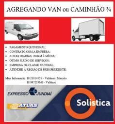 Contrata caminhão ou van