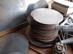 Retalhos de chapa de aço 1020 #5mm diâmetros variados (Leia a descrição)