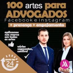 100 Artes para Advogados e Escritórios - Redes Sociais