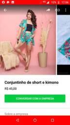 Conjunto kimono e short