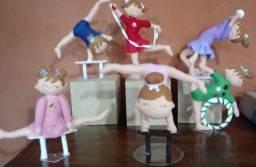 Kit Ginástica Olímpica com 6 personagens sob encomenda em feltro
