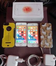 2 iPhone SE | Rosa 16GB e Prata 32GB
