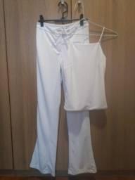 Conj. calça/blusa branco Drugstore