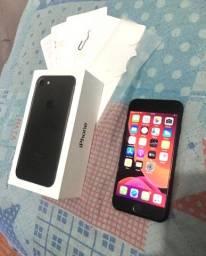 Iphone 7 black na caixa