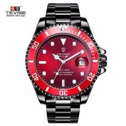 Relógio Automático TEVISE - Preto/Vermelho