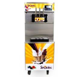 Máquina de sorvete expresso de piso com 3 bico açai ou frozen 825B sorvetec