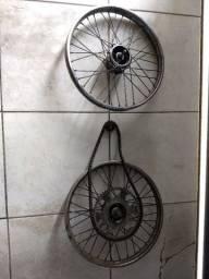 Rodas Mobilete bakilete com eixo e coroa corrente pinhão