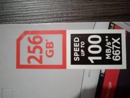 Cartão de memória 256GB SanDisk