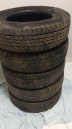 5 pneus seminovos Goodyear 205/75/16 para ducato, master s10...