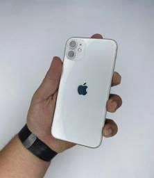Título do anúncio: iPhone 128 branco vitrine