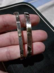 Conjunto com 2 pulseiras em alpaca