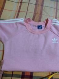 casaco moletom adidas rosa