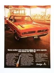 Dodge Charger RT - Propaganda Antiga, Publicidade, Anúncio