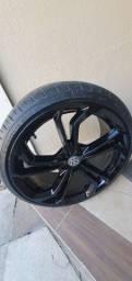 Rodas 19 com pneus novos para polo, virtus e jetta