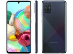 """Samsung Galaxy A71 Preto, Tela de 6,7"""", 4G, 128GB e Câmera Quádrupla de 64MP+12MP+5MP+ 5MP"""