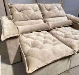 Título do anúncio: Sofá retrátil e reclinável  2,40 com veludão e frete grátis