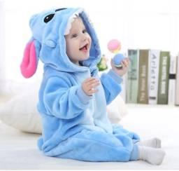 Macacão Fantasia Stitch Pijama Infantil
