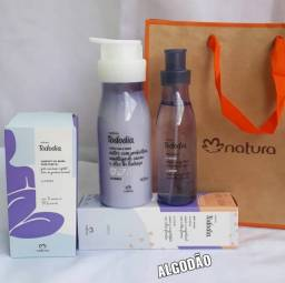 Kit Natura colônia 200ml + hidratante 400ml + caixa com 5 sabonetes (varias fragrâncias)