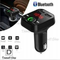 Transmissor Radio Sem Fio Bluetooth Fm Mp3 Usb
