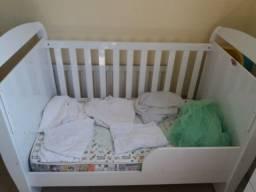 Berço Infantil Multifuncional Minicama 3 em 1 + colchão (130x70)+ mosquiteira+ 7 lençóis