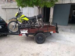 Carretinha para Carga e transporte de Moto