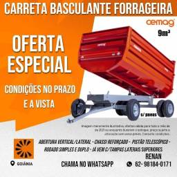 Carreta Forrageira Basculante 9m³ 2 eixos RS+RD