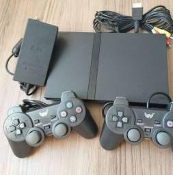 PlayStation 2 6mil Jogos+2Controles Novos LEIA