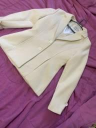 Casaco de lã batido