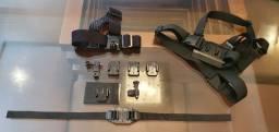 Gopro Acessórios Kit 3em1 Suporte Cabeça + Peito + Capacete