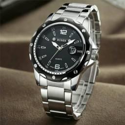 54dcfcad048 Relógio Aço Inox Clássico BIDEN