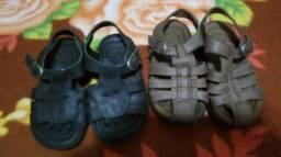 Sandálias em Couro para Meninos Bical Marrom e Preta / (nº 22)