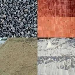 Areia grossa, arisco, pedra, brita , telhas