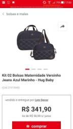 Kit bolsa hug maternidade 3 meses de uso