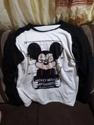 Camisa Mickey Longa