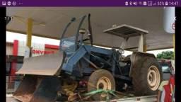 Trator ford 6600 com lamina