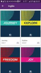Kit para aprendizado de Inglês- Livros e cd's de áudio
