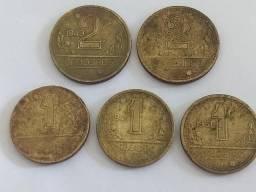 5 moedas de cruzeiros déc 40