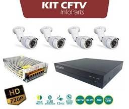 Kit cftv 4 canais ja instalados + acesso remoto