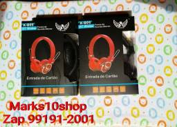 Fone de ouvido Headphone Bluetooth 3.0 Com Entrada De Card P2 E Rádio Fm