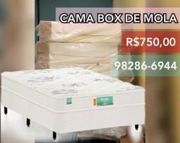 Cama com colchão de mola / cama box