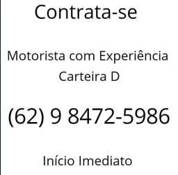 Contrata-se Motorista com Experiência Carteira D