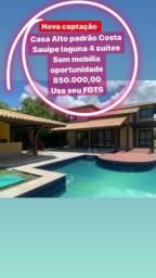 Casa 4 suíte costa da Sauípe Alto Padrão 850 mil