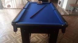 Mesa Charme Caçapa Redes Cor Preta Tecido Azul Mod. MAXO1119