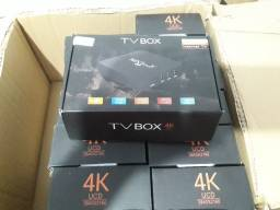 Smartv Box Mx9 Transforma Tv Smart-4Gb/64Gb - Pronta Entrega
