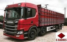Scania P320 8x2 Aut Cabine Leito + Carroceria Graneleiro 2021