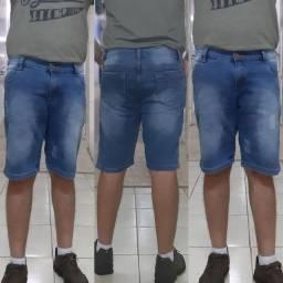 Bermuda Jeans Masculina. Com Elastano. Atacado Fabrica Goiânia, Goiás