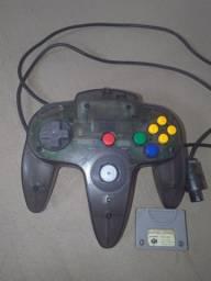 Controle N64 jabuticaba com memory Nintendo 64 todos funcionando.