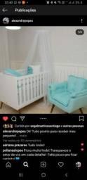 Berço + colchão + kit berço