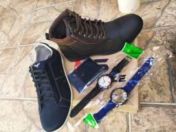 Primo: Sapatênis, bota, relógio e carteira!